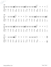 No Vacancy-OneRepublic-Numbered-Musical-Notation-Preview-3