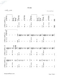 Slide-Calvin Harris-Numbered-Musical-Notation-Preview-1