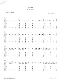 Swalla-Jason Derulo-Numbered-Musical-Notation-Preview-1