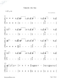 Towards the Sun-Rihanna-Numbered-Musical-Notation-Preview-1