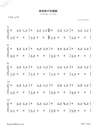 On Wings of Song-Numbered-Musical-Notation-Preview-1