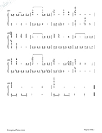 The Lonely Man Theme-The Incredible Hulk OP-Numbered-Musical-Notation-Preview-2