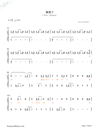I Have Changed-Li Yuchun-Numbered-Musical-Notation-Preview-1