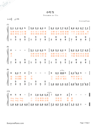 Doraemon-Doraemon OP-Numbered-Musical-Notation-Preview-1