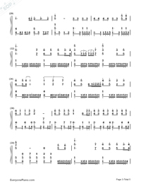 In the Name of People Numbered Musical Notation Preview 3