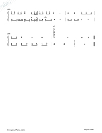 In the Name of People Numbered Musical Notation Preview 5