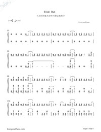 Blow Out-Konomi Suzuki-Numbered-Musical-Notation-Preview-1