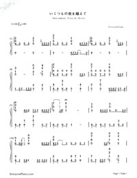 Ikutsumono Yoru wo Koete-Hatsune Miku-Numbered-Musical-Notation-Preview-1