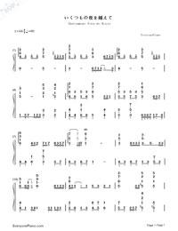 Ikutsumono Yoru wo Koete-Hatsune Miku-Numbered-Musical-Notation-Preview-1