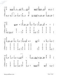 Ikutsumono Yoru wo Koete-Hatsune Miku-Numbered-Musical-Notation-Preview-2