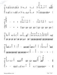 Ikutsumono Yoru wo Koete-Hatsune Miku-Numbered-Musical-Notation-Preview-7