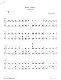 Jingo Jungle-Saga of Tanya the Evil OP-Numbered-Musical-Notation-Preview-1
