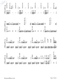 arisu ni sayonara-GUMI-Numbered-Musical-Notation-Preview-3