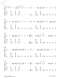 Chantaje-Shakira-Numbered-Musical-Notation-Preview-2