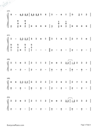 Chantaje-Shakira-Numbered-Musical-Notation-Preview-3