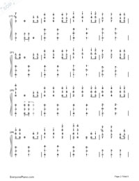He is a Pirate-The Theme Song of Pirates of the Caribbean-Numbered-Musical-Notation-Preview-2