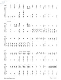 He is a Pirate-The Theme Song of Pirates of the Caribbean-Numbered-Musical-Notation-Preview-4