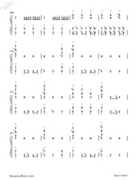 He is a Pirate-The Theme Song of Pirates of the Caribbean-Numbered-Musical-Notation-Preview-5