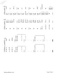 He is a Pirate-The Theme Song of Pirates of the Caribbean-Numbered-Musical-Notation-Preview-9