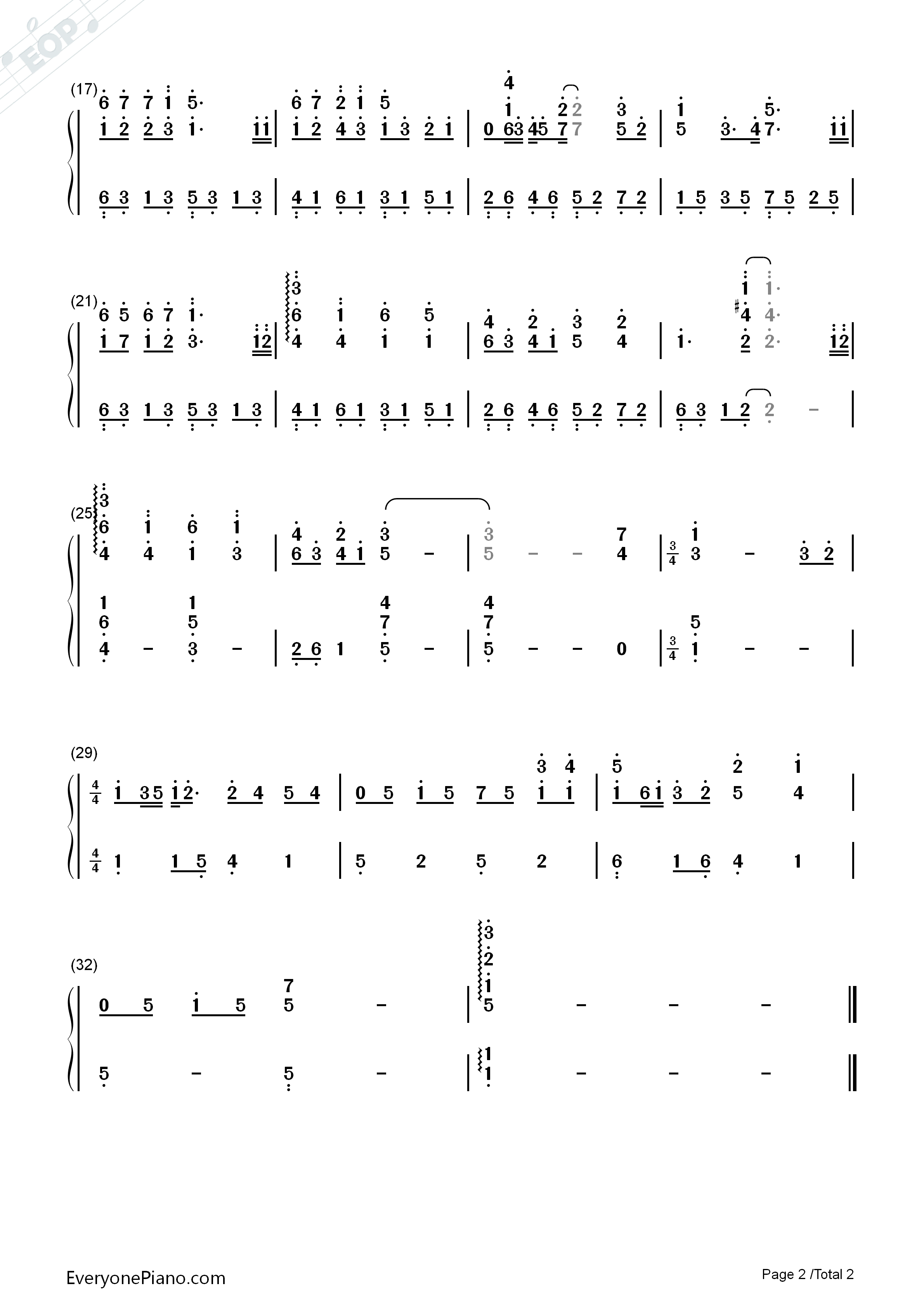 Tender love yang yang numbered musical notation preview 2 free listen now print sheet tender love yang yang numbered musical notation preview 2 hexwebz Images