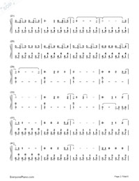Malibu-Miley Cyrus-Numbered-Musical-Notation-Preview-2