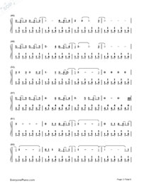 Malibu-Miley Cyrus Numbered Musical Notation Preview 3