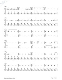 Malibu-Miley Cyrus-Numbered-Musical-Notation-Preview-4