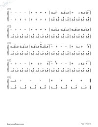 Malibu-Miley Cyrus Numbered Musical Notation Preview 6