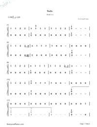 Nada-Shakira-Numbered-Musical-Notation-Preview-1
