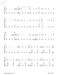 Nada-Shakira-Numbered-Musical-Notation-Preview-2