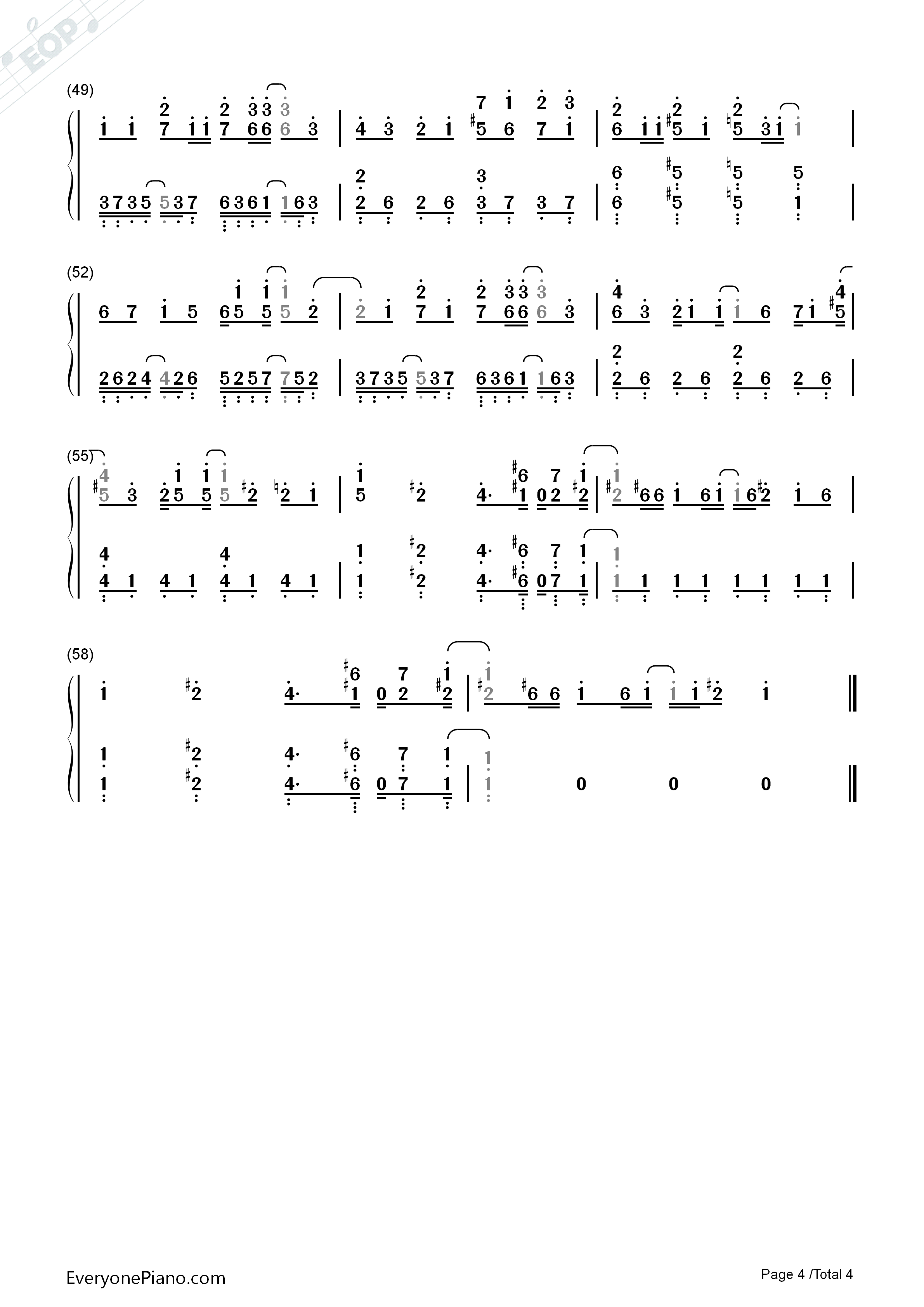 Sugar song to bitter step blood blockade battlefront ed numbered listen now print sheet sugar song to bitter step blood blockade battlefront ed numbered musical notation preview 4 hexwebz Images