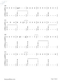 Happier-Ed Sheeran-Numbered-Musical-Notation-Preview-3