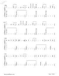 Happier-Ed Sheeran-Numbered-Musical-Notation-Preview-7