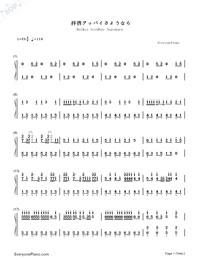 Haikei Goodbye Sayonara-Numbered-Musical-Notation-Preview-1