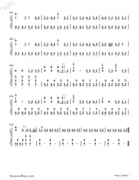 Haikei Goodbye Sayonara-Numbered-Musical-Notation-Preview-2