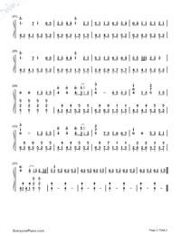 Haikei Goodbye Sayonara-Numbered-Musical-Notation-Preview-2