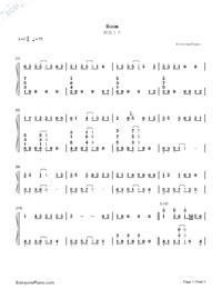 Room-Hatsune Miku-Numbered-Musical-Notation-Preview-1