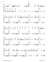 Room-Hatsune Miku-Numbered-Musical-Notation-Preview-3
