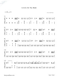 little do you know piano sheet music free pdf