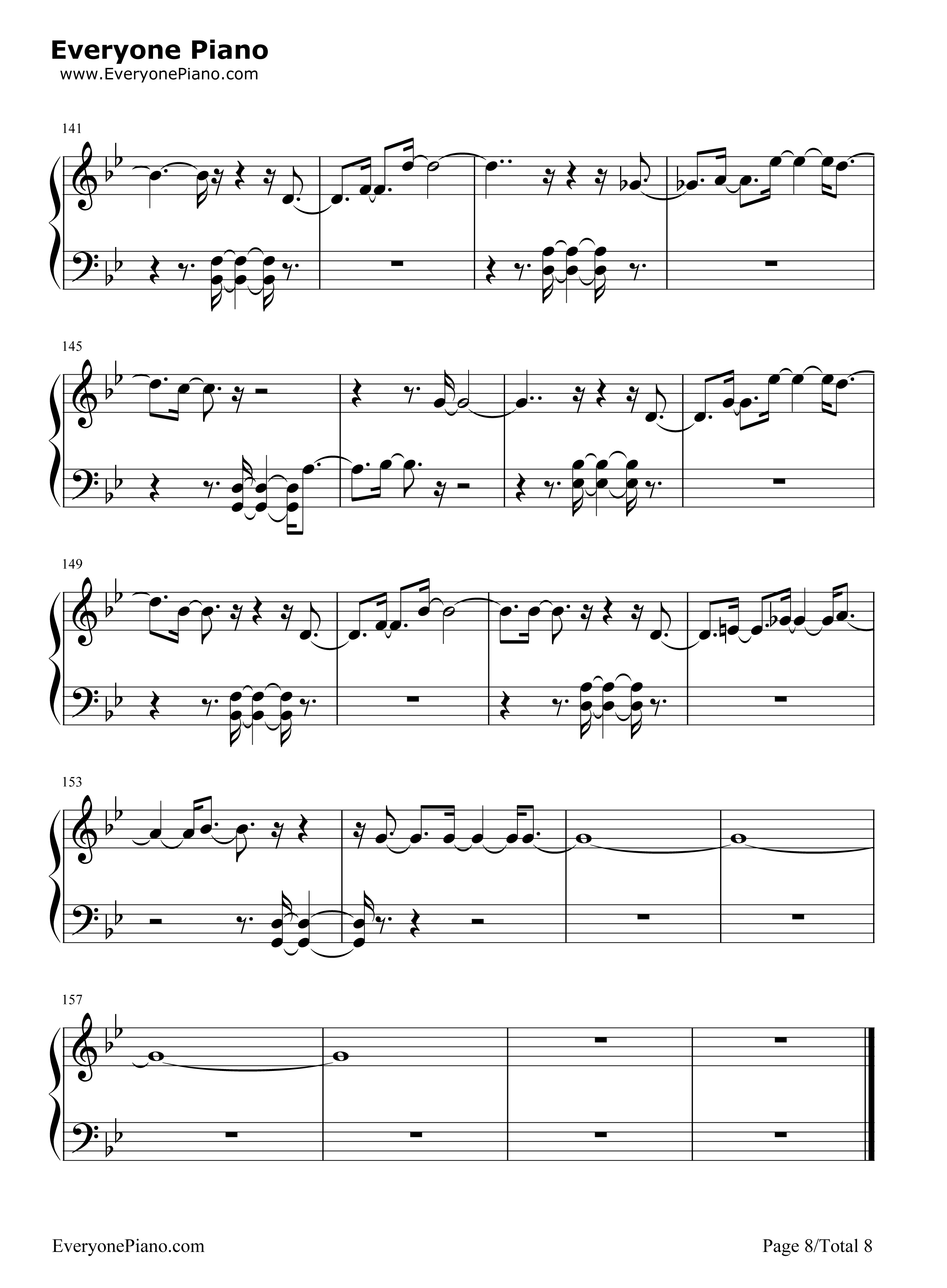 Lonely sistar stave preview 8 free piano sheet music piano chords listen now print sheet lonely sistar stave preview 8 hexwebz Gallery