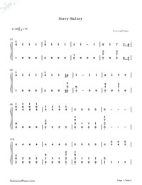 Sorry-Halsey-Numbered-Musical-Notation-Preview-1