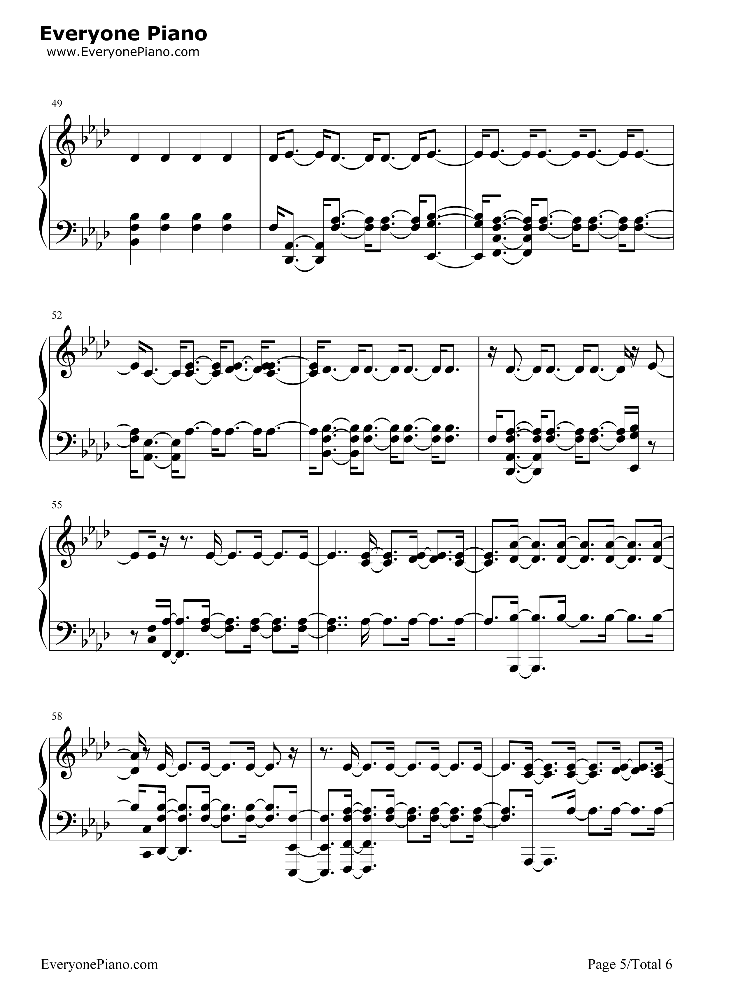 Sorry halsey stave preview 5 free piano sheet music piano chords listen now print sheet sorry halsey stave preview 5 hexwebz Gallery