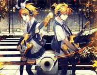 Tsumugi Uta-Kagamine Rin and Len