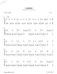 Senbonzakura Variation-Numbered-Musical-Notation-Preview-1