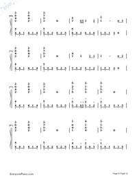 Senbonzakura Variation-Numbered-Musical-Notation-Preview-4