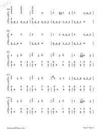 Senbonzakura Variation-Numbered-Musical-Notation-Preview-5