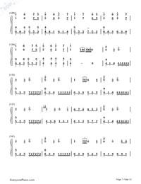 Senbonzakura Variation-Numbered-Musical-Notation-Preview-7