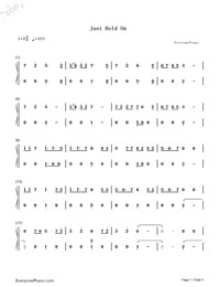 Just Hold On-Steve Aoki and Louis Tomlinson-Numbered-Musical-Notation-Preview-1