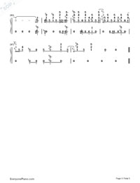 Just Hold On-Steve Aoki and Louis Tomlinson-Numbered-Musical-Notation-Preview-5