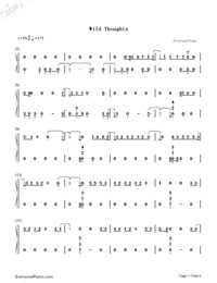 Wild Thoughts-Numbered-Musical-Notation-Preview-1